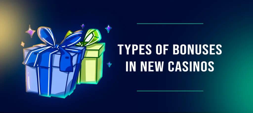 Types of bonuses in New Aussie Online Casinos